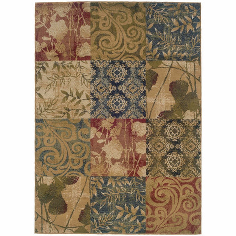 Oriental Weavers Camden Beige Green Floral  Transitional Rug