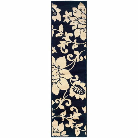 Oriental Weavers Camden Black Ivory Floral  Contemporary Rug