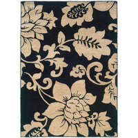 Woven - Camden Black Ivory Floral  Contemporary Rug