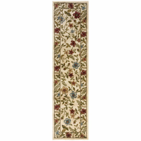 Oriental Weavers Camden Ivory Beige Floral  Traditional Rug