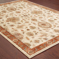 Woven - Casablanca Beige Rust Floral  Traditional Rug