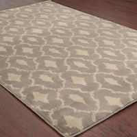 Woven - Casablanca Brown Green Geometric  Transitional Rug