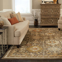 Woven - Casablanca Brown Multi Oriental Traditional Traditional Rug