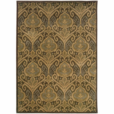 Oriental Weavers Casablanca Green Ivory Floral  Transitional Rug
