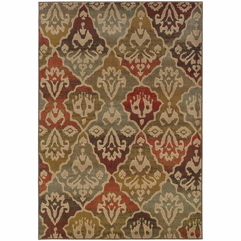 Oriental Weavers Casablanca Multi Beige Floral Ikat Transitional Rug