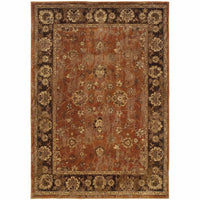 Casablanca Orange Brown Oriental Traditional Traditional Rug - Free Shipping