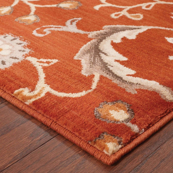 Woven - Casablanca Red Multi Floral  Transitional Rug