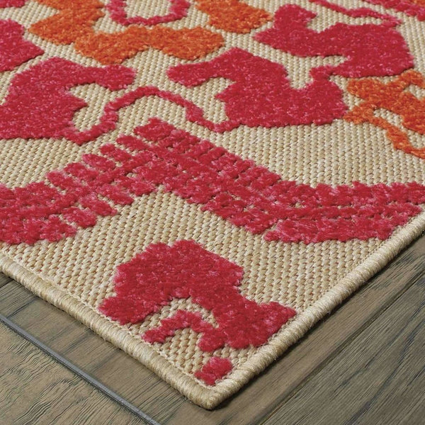 Woven - Cayman Sand Pink Geometric Medallion Transitional Rug