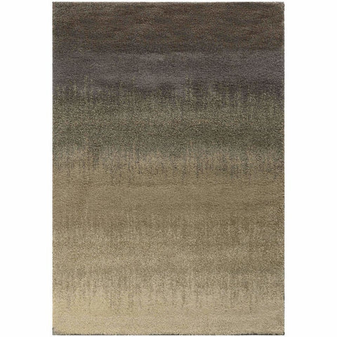 Covington Grey Beige Abstract  Shag Rug