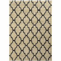 Covington Ivory Midnight Geometric  Shag Rug - Free Shipping