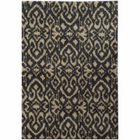 Covington Midnight Beige Abstract  Shag Rug - Free Shipping