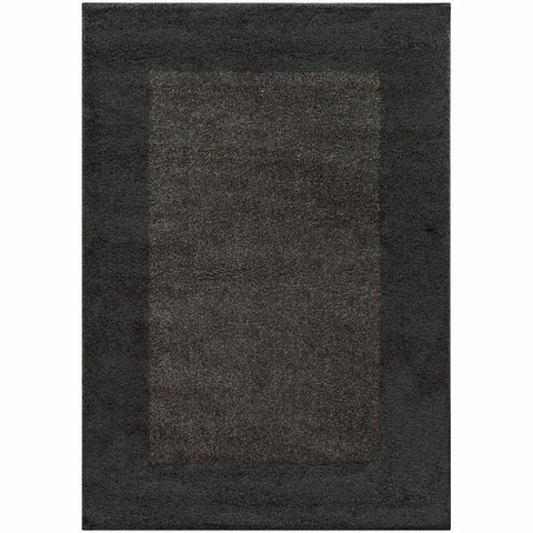 Oriental Weavers Covington Midnight Grey Border  Shag Rug