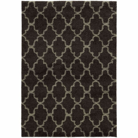Oriental Weavers Covington Midnight Grey Geometric  Shag Rug