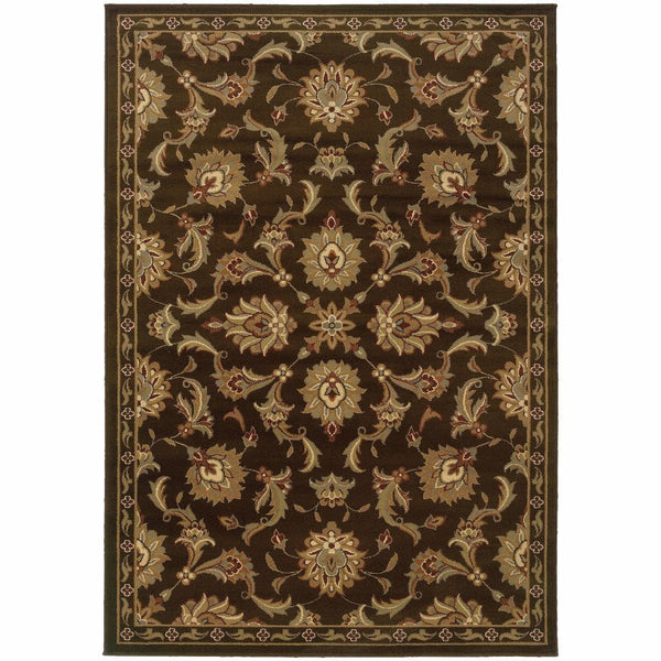 Darcy Brown Green Oriental Persian Contemporary Rug - Free Shipping