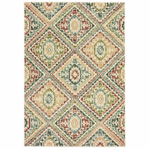 Oriental Weavers Dawson Ivory Multi Geometric Southwest/Lodge Casual Rug