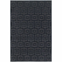 Elisa Navy Blue Geometric Solid Contemporary Rug - Free Shipping