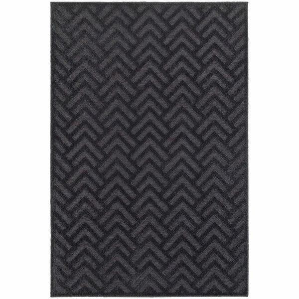 Woven - Elisa Navy Blue Geometric Solid Contemporary Rug