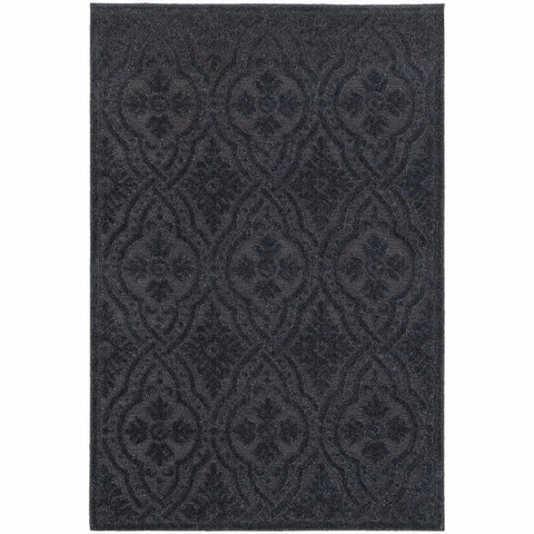 Oriental Weavers Elisa Navy Blue Solid Medallion Contemporary Rug