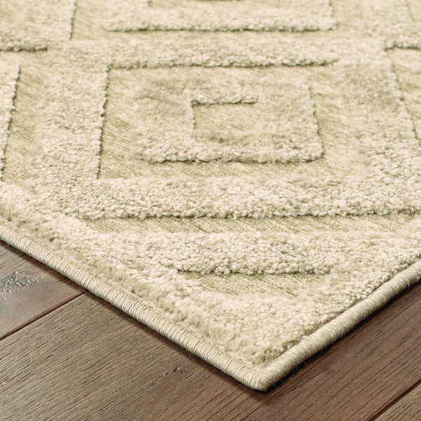 Woven - Elisa Sand Beige Geometric  Contemporary Rug