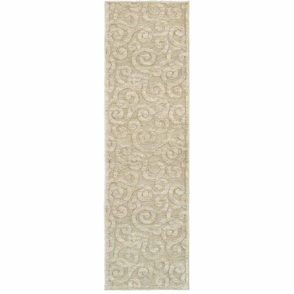 Woven - Elisa Sand Beige Solid Geometric Contemporary Rug