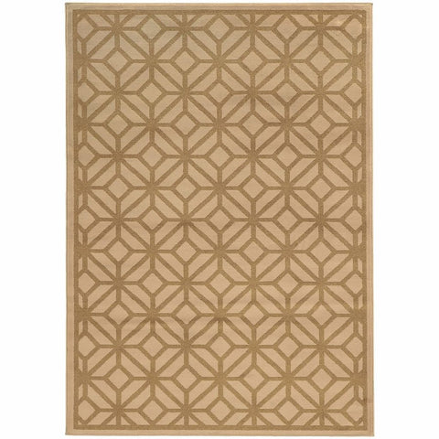 Oriental Weavers Ella Beige Tan Geometric Tile Transitional Rug