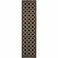 Woven - Ella Black Beige Geometric  Transitional Rug