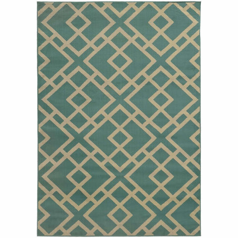 Oriental Weavers Ella Blue Light Grey Geometric  Transitional Rug