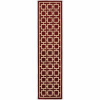 Woven - Ella Red Beige Geometric  Transitional Rug