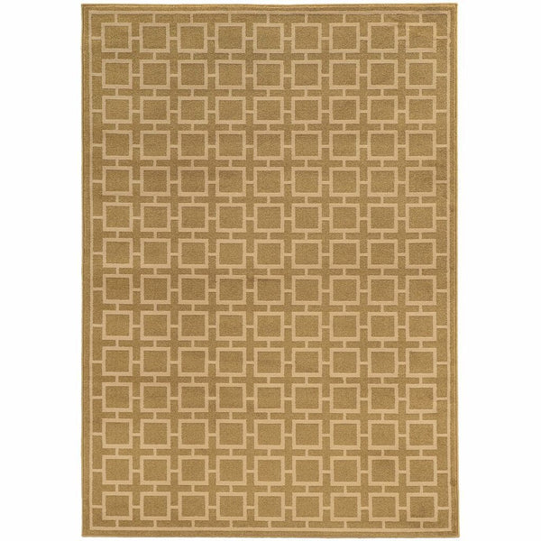 Ella Tan Beige Geometric  Transitional Rug - Free Shipping