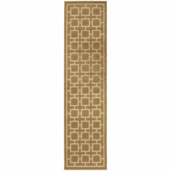Woven - Ella Tan Beige Geometric  Transitional Rug