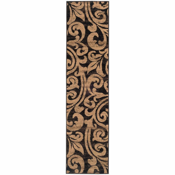 Woven - Emerson Black Gold Botanical  Transitional Rug
