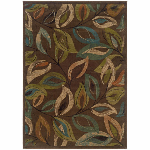 Oriental Weavers Emerson Brown Green Botanical  Transitional Rug