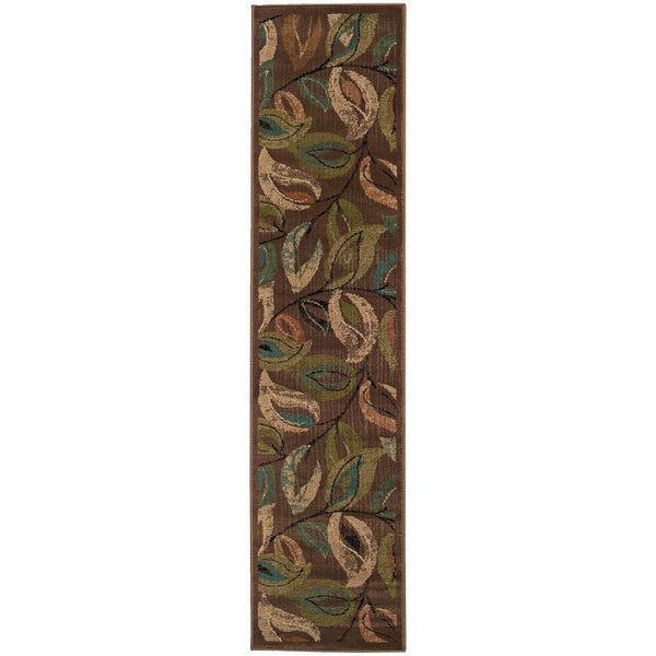 Woven - Emerson Brown Green Botanical  Transitional Rug