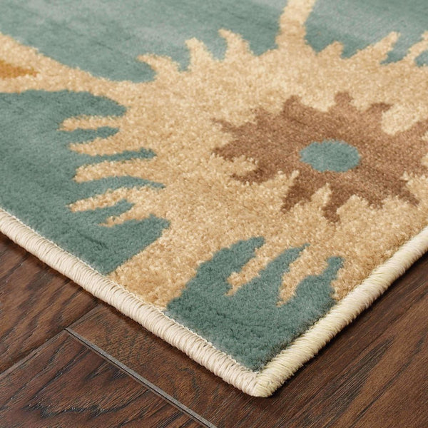 Woven - Emerson Ivory Gold Floral  Contemporary Rug