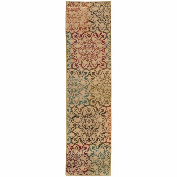 Woven - Emerson Ivory Multi Floral  Transitional Rug