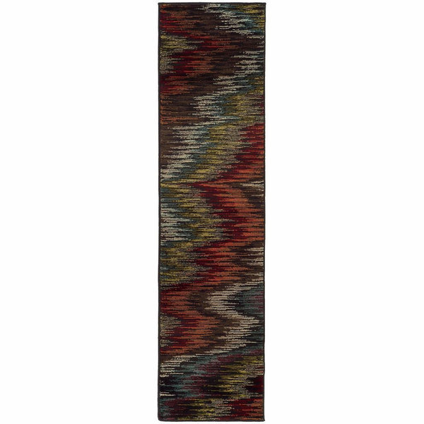 Woven - Emerson Multi Black Abstract Ikat Contemporary Rug