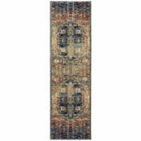 Woven - Empire Gold Blue Oriental Medallion Traditional Rug