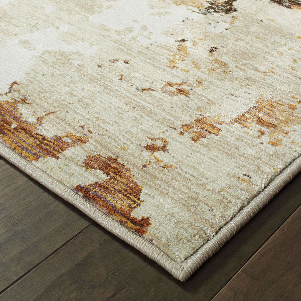 Woven - Evolution Beige Charcoal Abstract Abstract Contemporary Rug