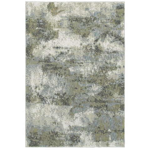 Oriental Weavers Evolution Blue Green Abstract Abstract Contemporary Rug