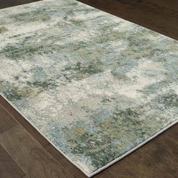 Woven - Evolution Blue Green Abstract Abstract Contemporary Rug