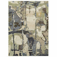 Evolution Blue Grey Abstract Abstract Contemporary Rug - Free Shipping