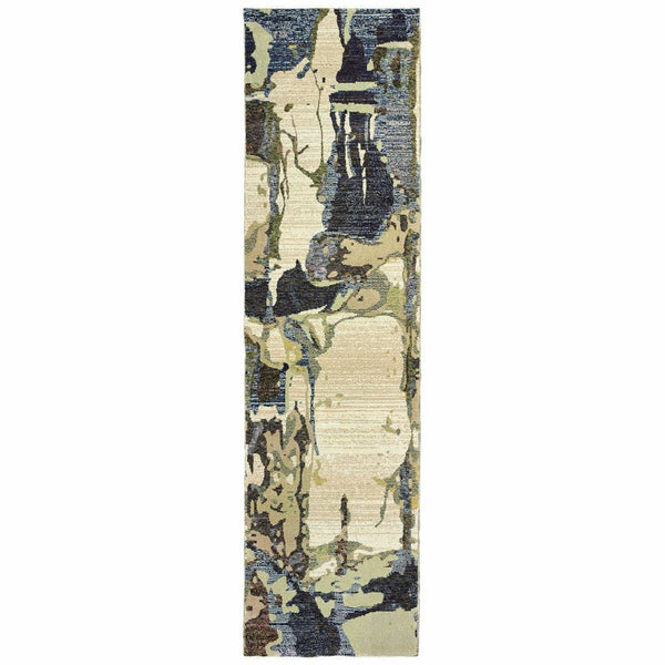Woven - Evolution Blue Grey Abstract Abstract Contemporary Rug