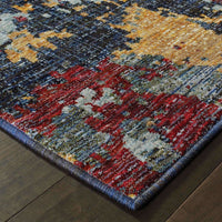 Woven - Evolution Blue Red Abstract Abstract Contemporary Rug