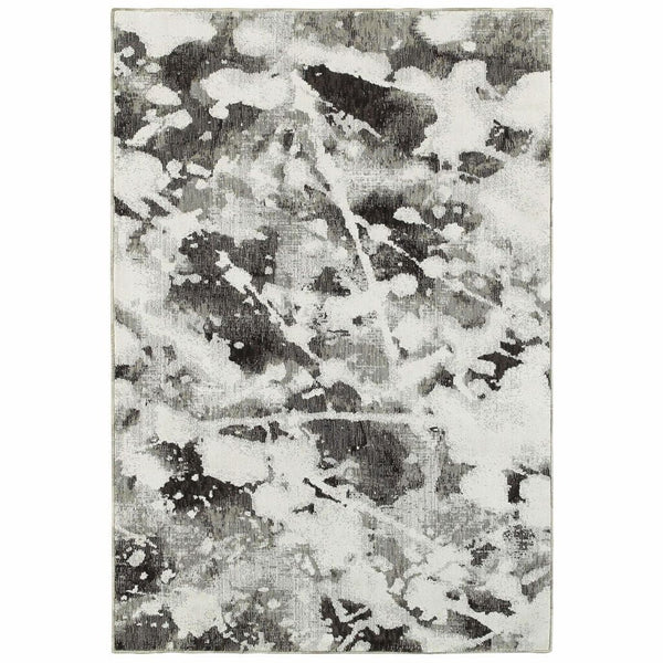 Woven - Evolution Charcoal White Abstract Abstract Contemporary Rug