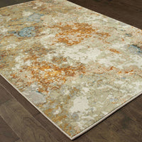 Woven - Evolution Gold Beige Abstract Abstract Contemporary Rug