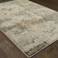 Woven - Evolution Grey Gold Abstract Abstract Contemporary Rug