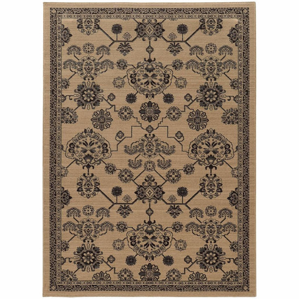 Foundry Beige Grey Oriental Persian Traditional Rug - Free Shipping