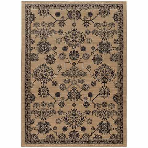Oriental Weavers Foundry Beige Grey Oriental Persian Traditional Rug