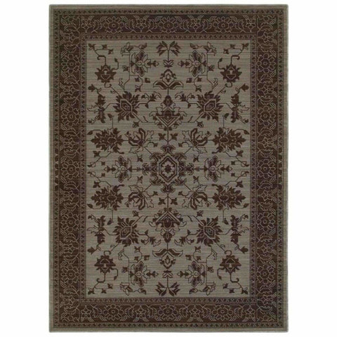 Oriental Weavers Foundry Blue Grey Oriental Persian Traditional Rug