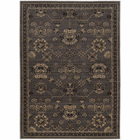 Foundry Grey Charcoal Oriental Persian Traditional Rug - Free Shipping